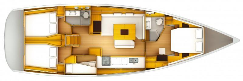bateau à voile Sun Odyssey 509