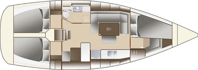 bateau à voile Dufour 375