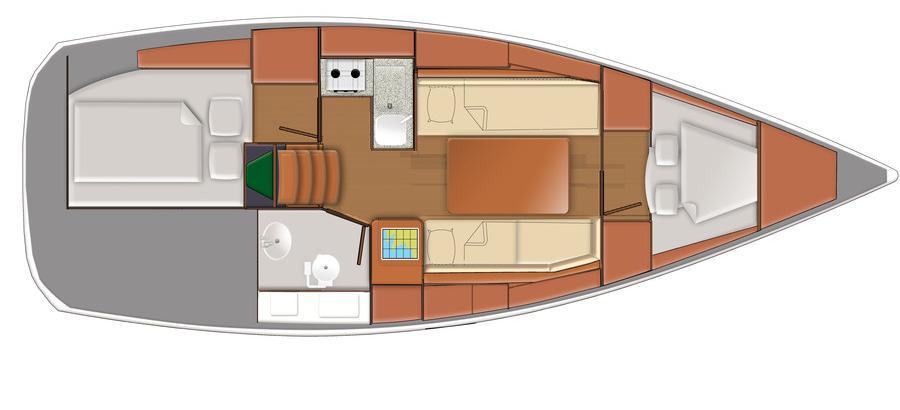 bateau à voile Delphia 31