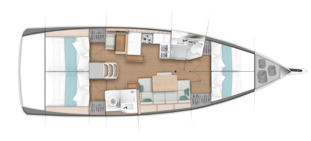 bateau à voile Sun Odyssey 440