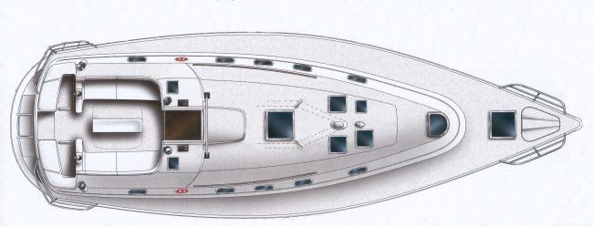bateau à voile Gib`sea 43