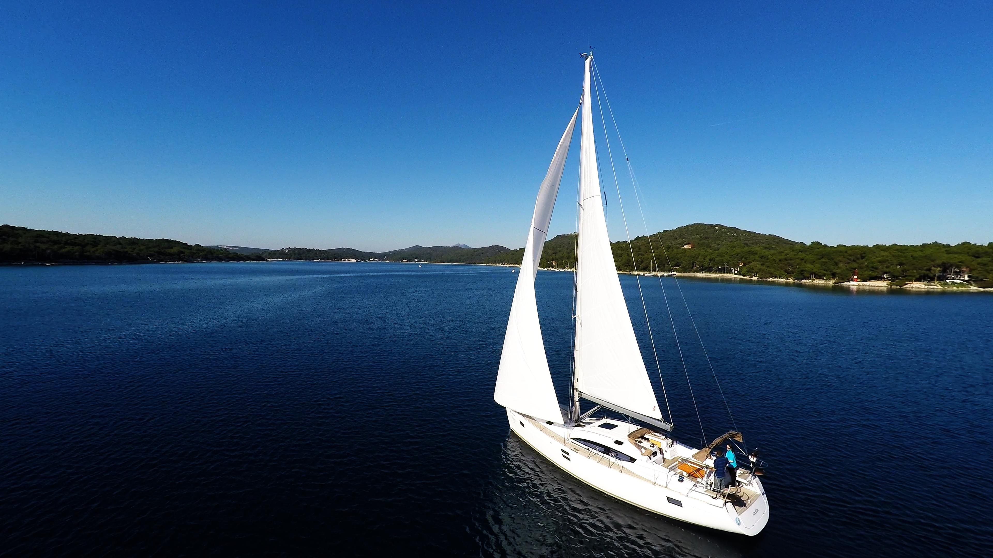 bateau à voile ciel bleu baie de mer bateau à voile voilier voile