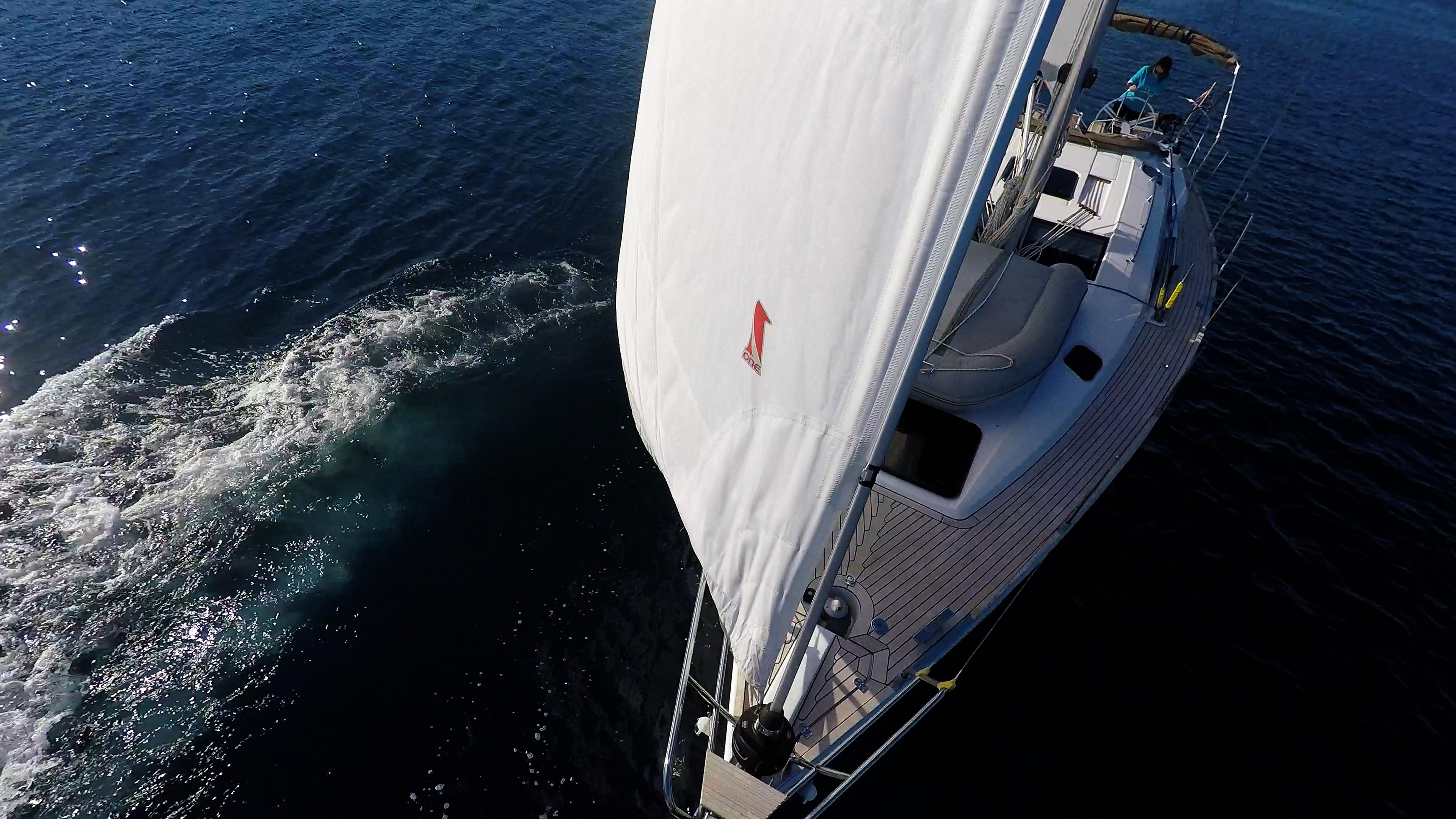 bateau à voile proue voilier elan 45 impression bateau à voile voile