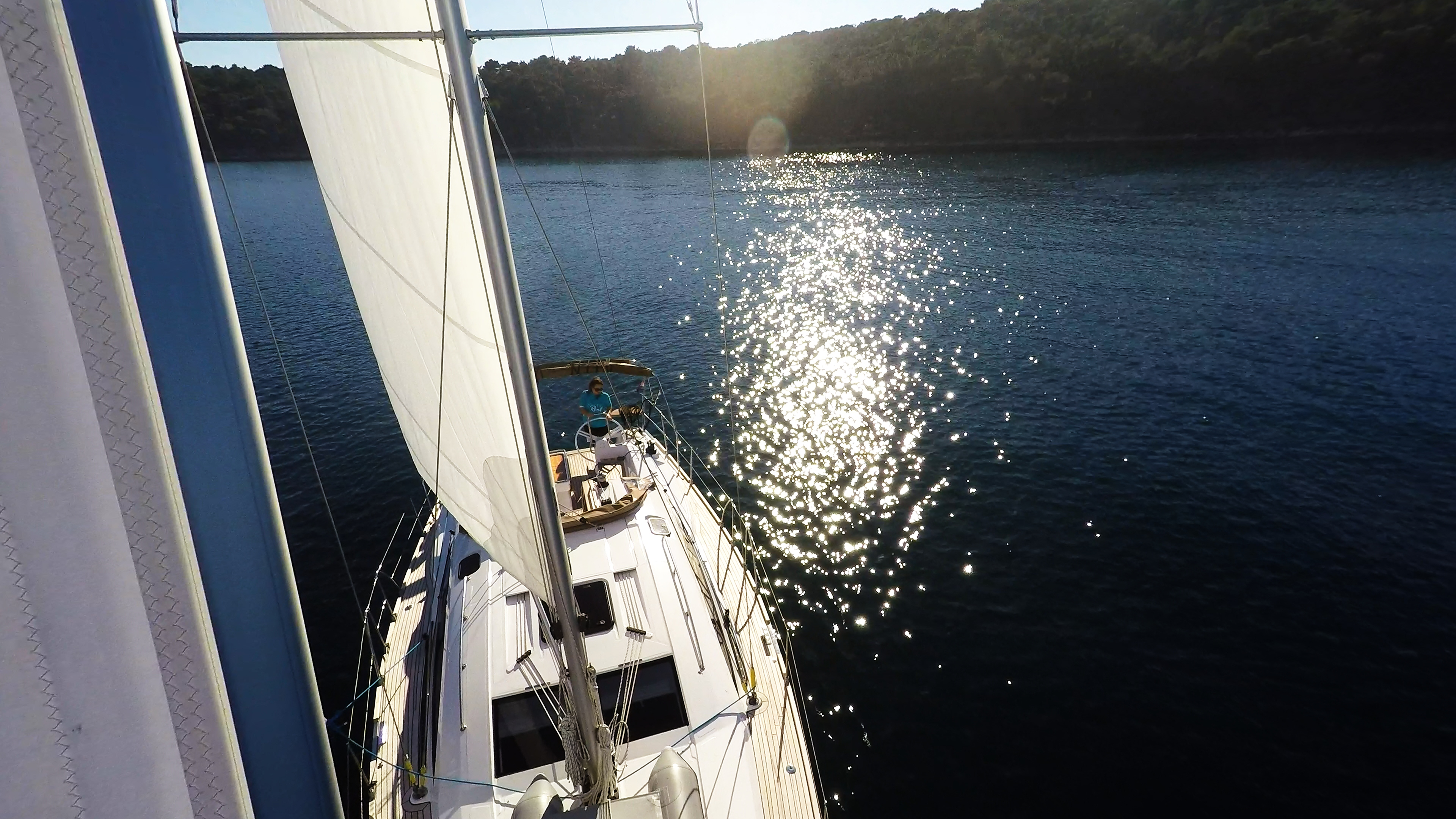 bateau à voile voile avant voilier elan 45 impression bateau à voile