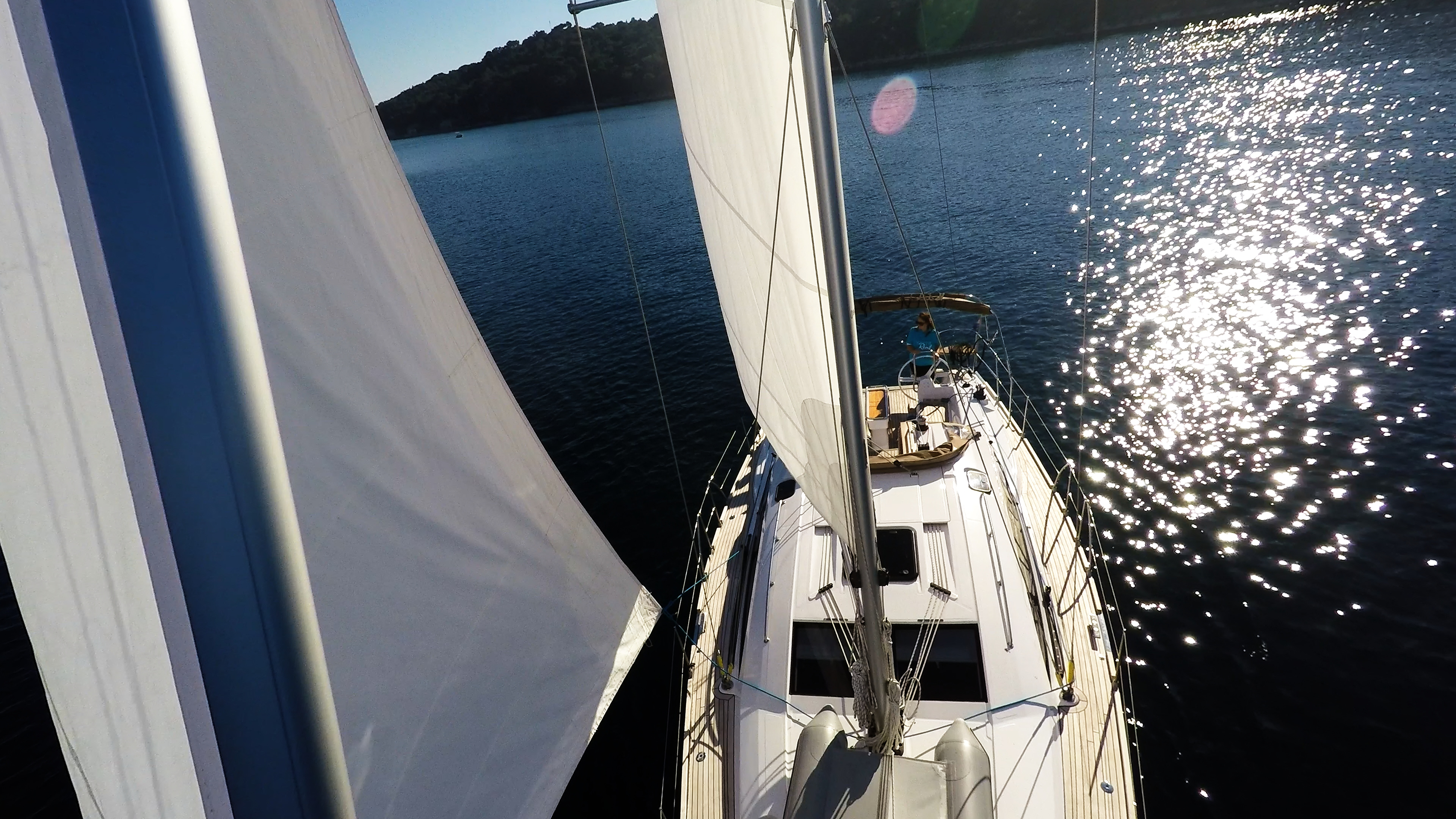 bateau à voile génois voile avant voilier elan 45 impression bateau à voile