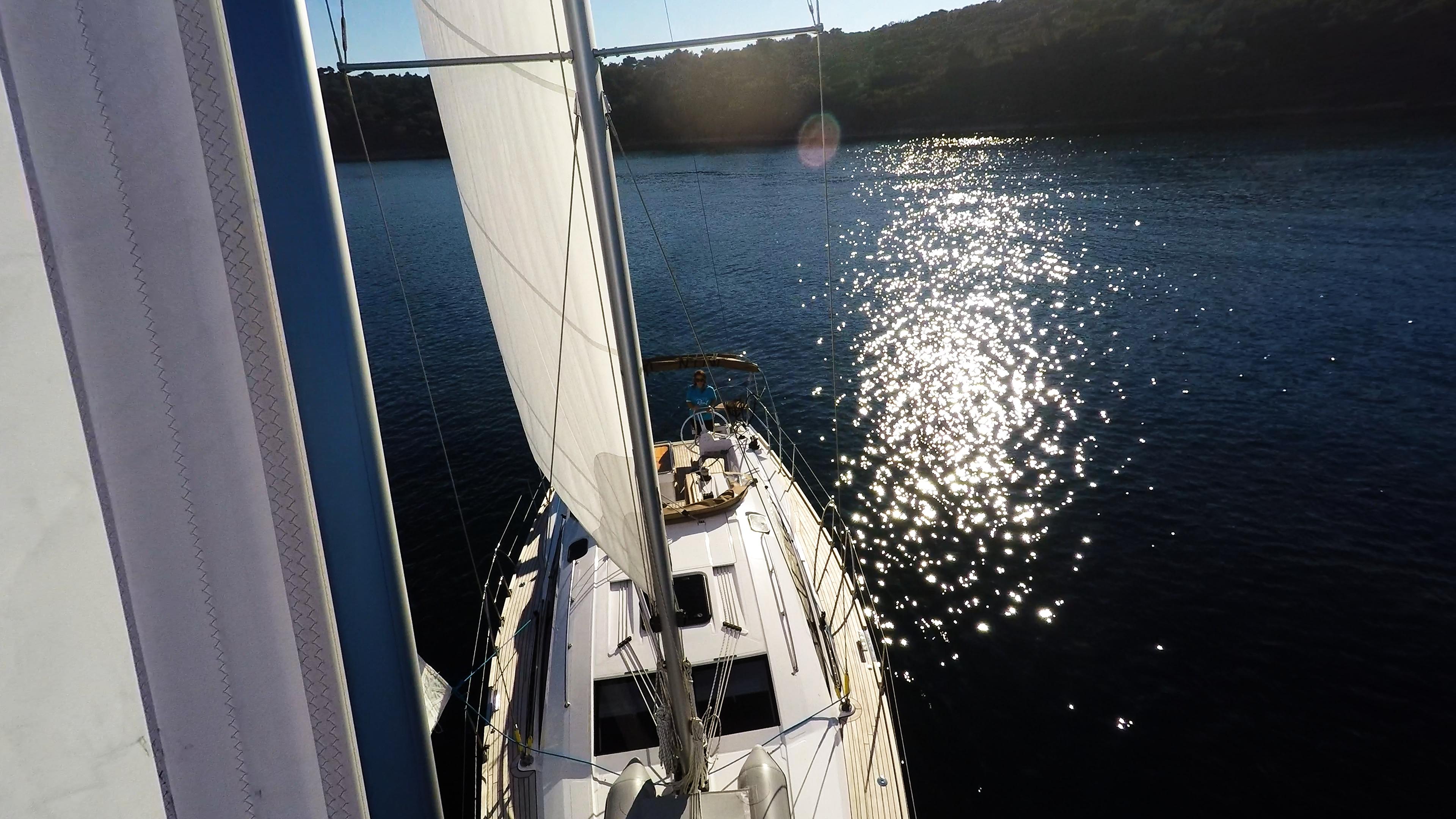 bateau à voile génois voile voilier elan 45 impression bateau à voile