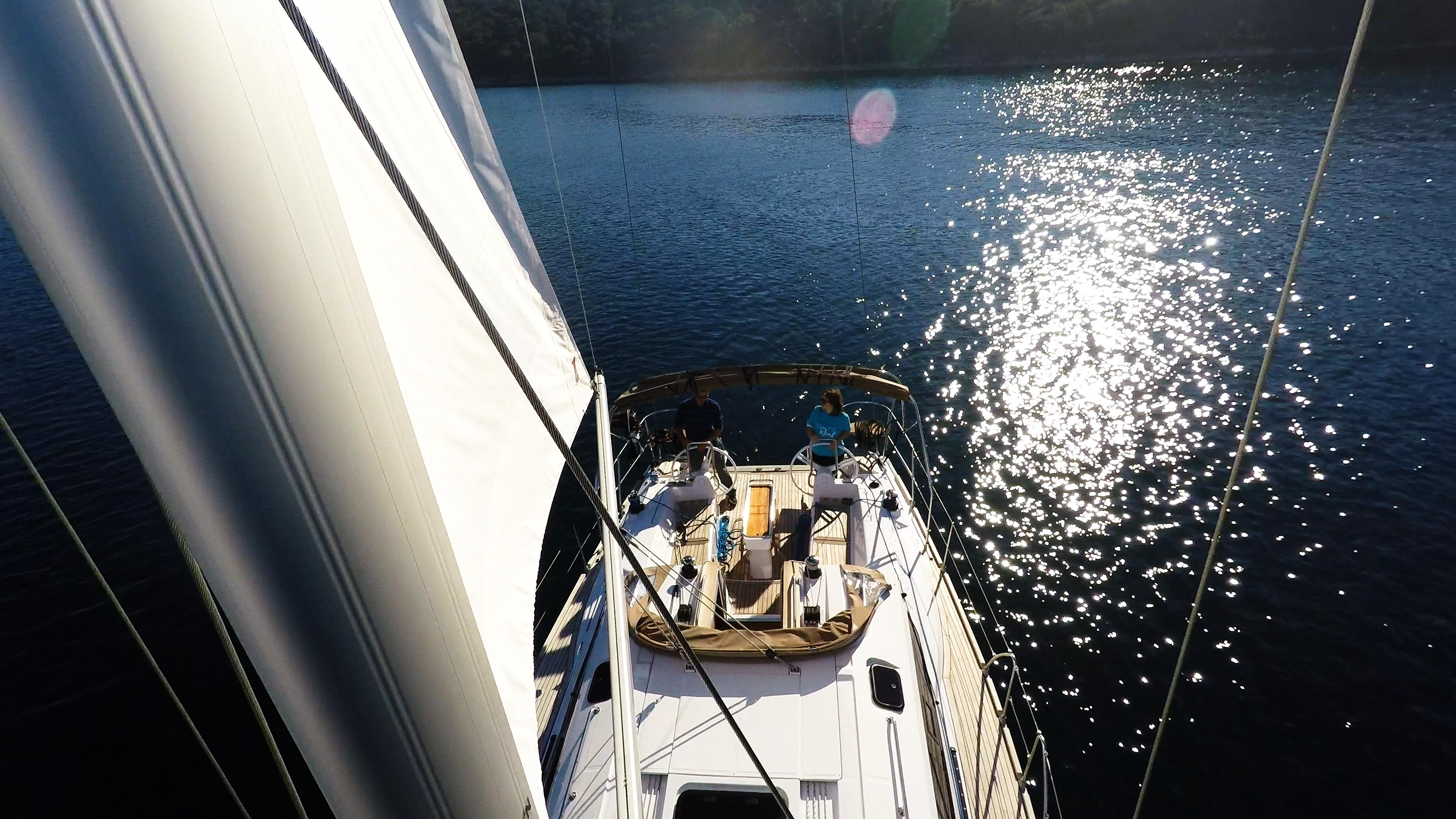bateau à voile mât grand-voile voilier elan 45 impression voiles