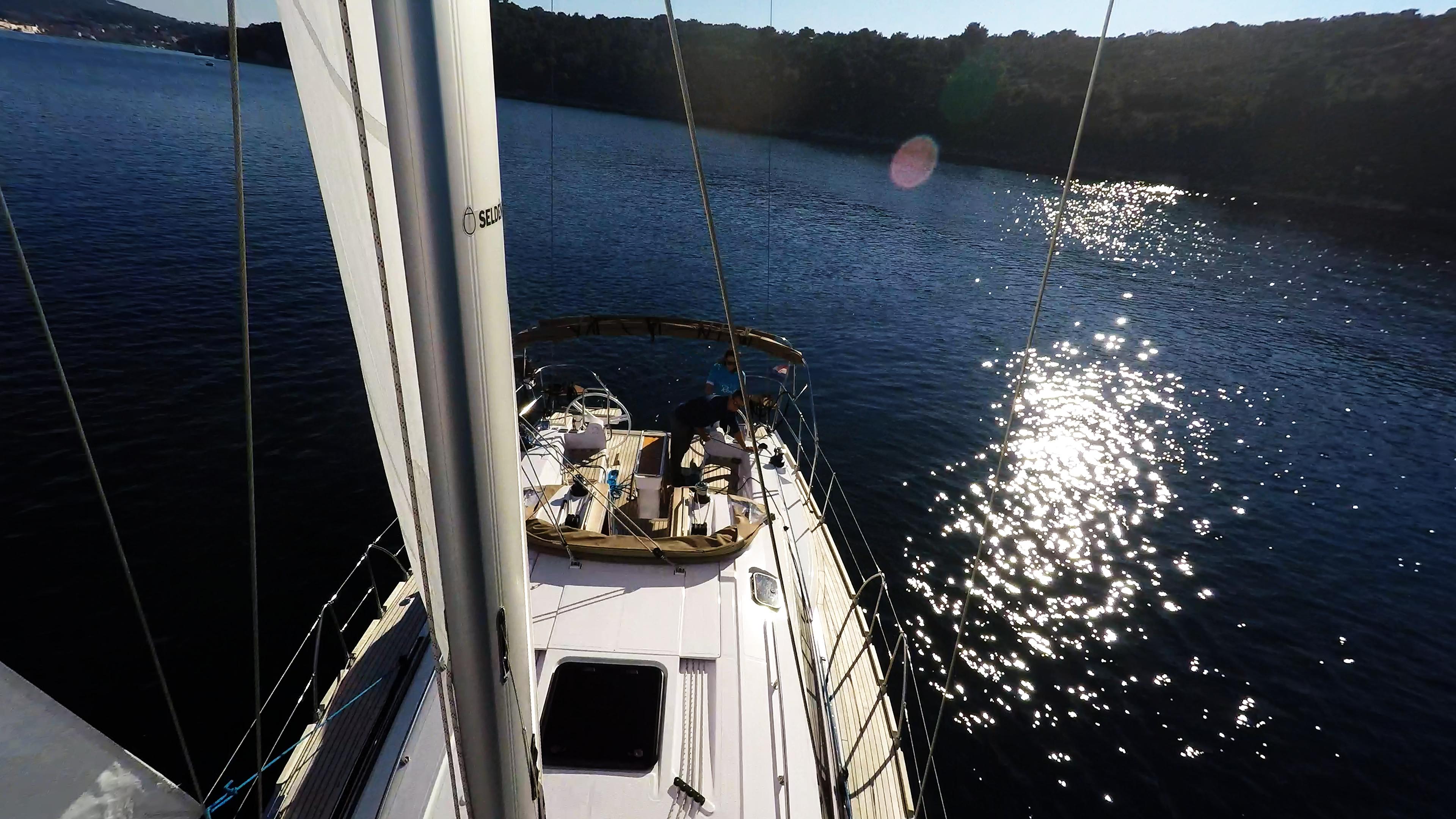 bateau à voile mât gréement voilier elan 45 impression voile bateau à voile