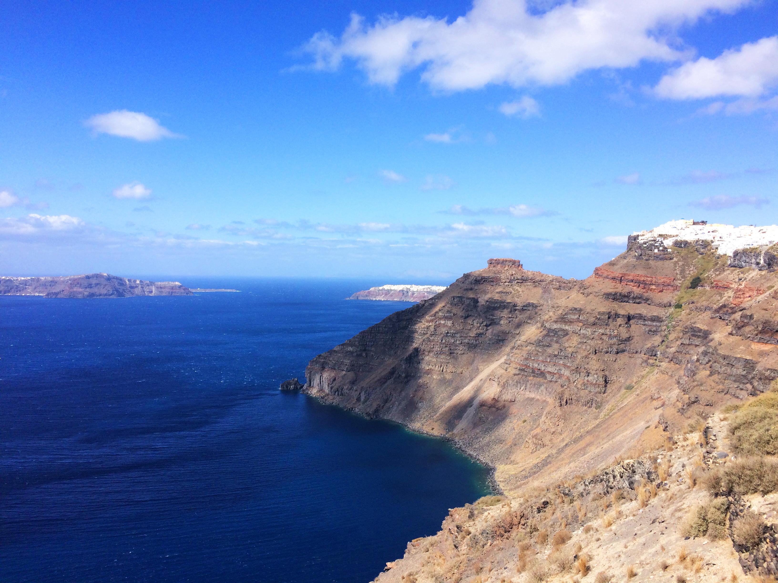 côte île Santorin Grèce paysage