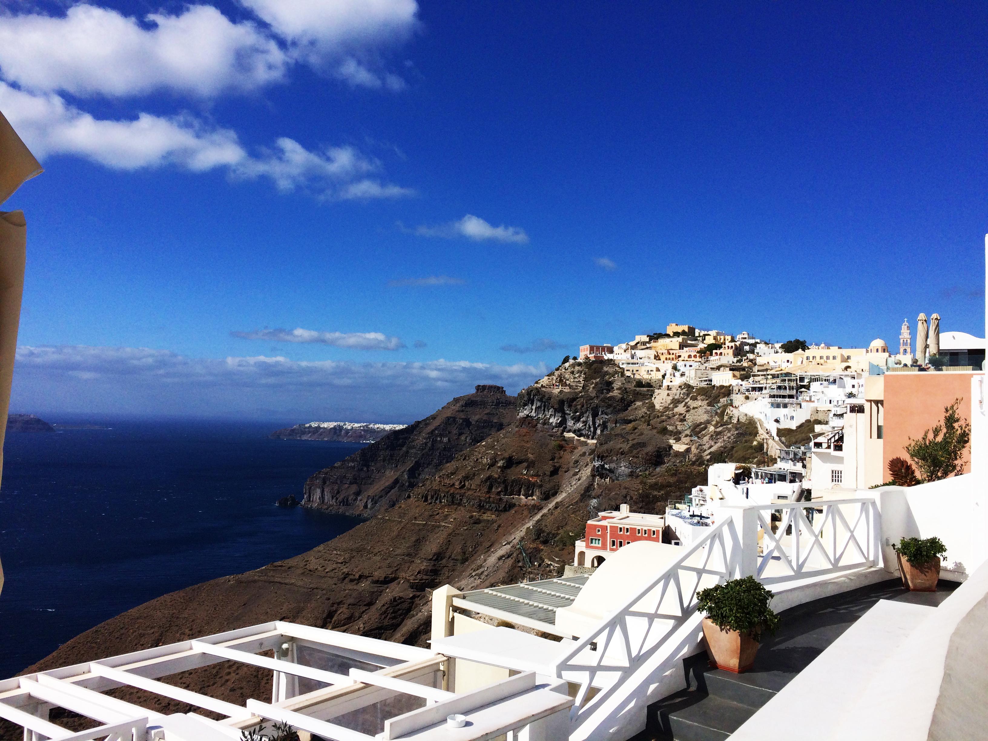 Santorin Grèce mer bleue