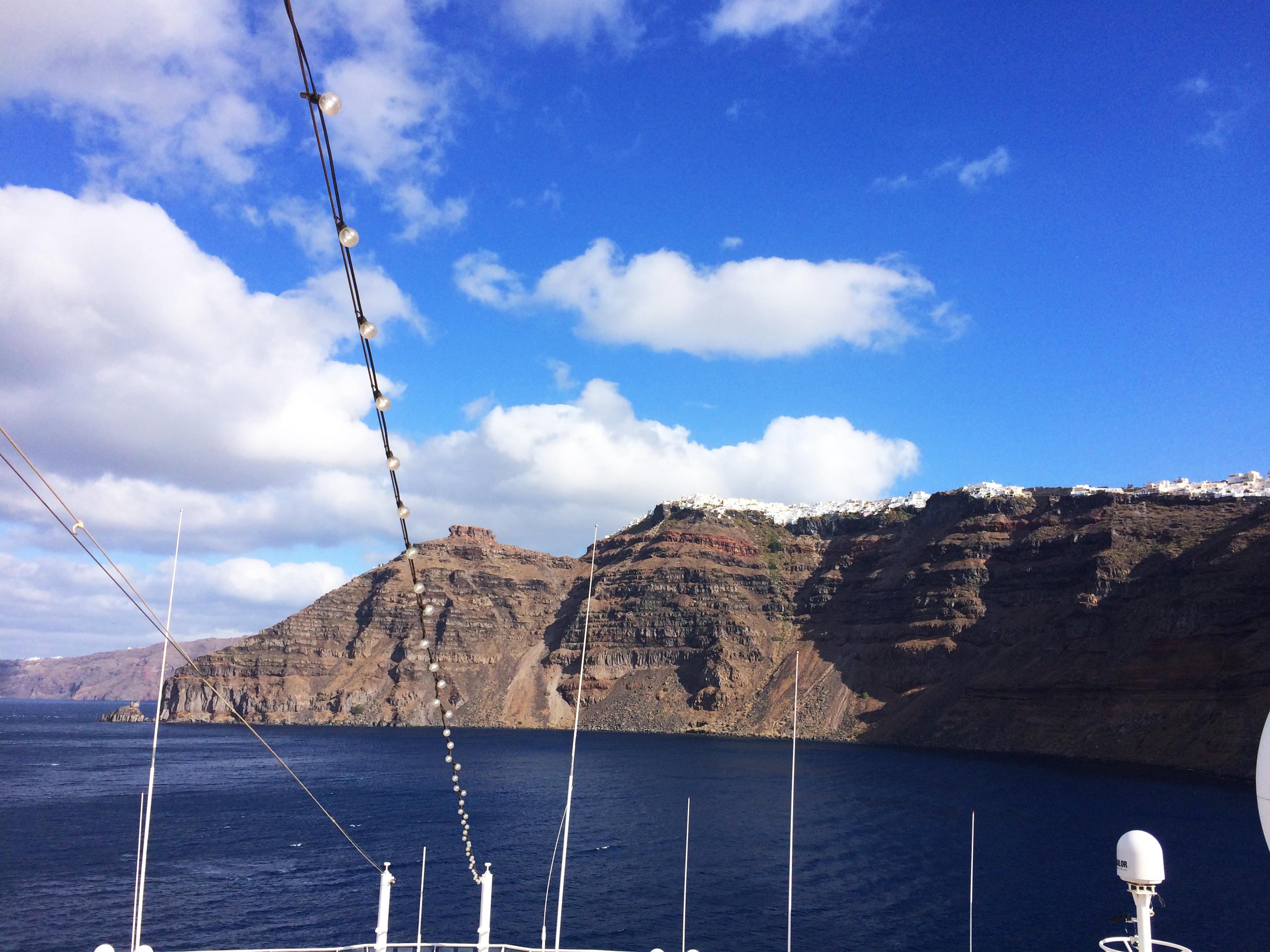 Santorin Grèce navire