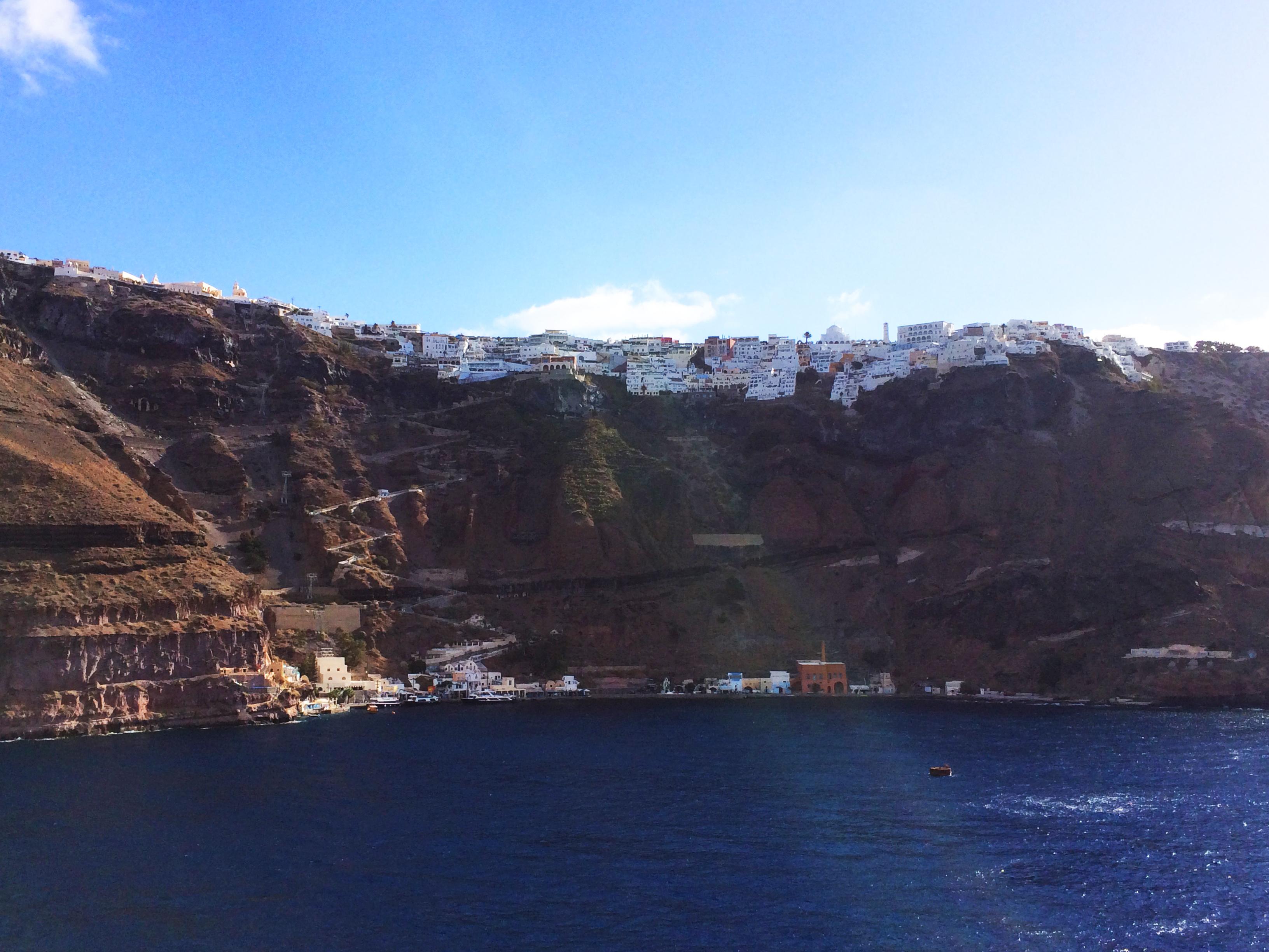 Santorin mer Grèce