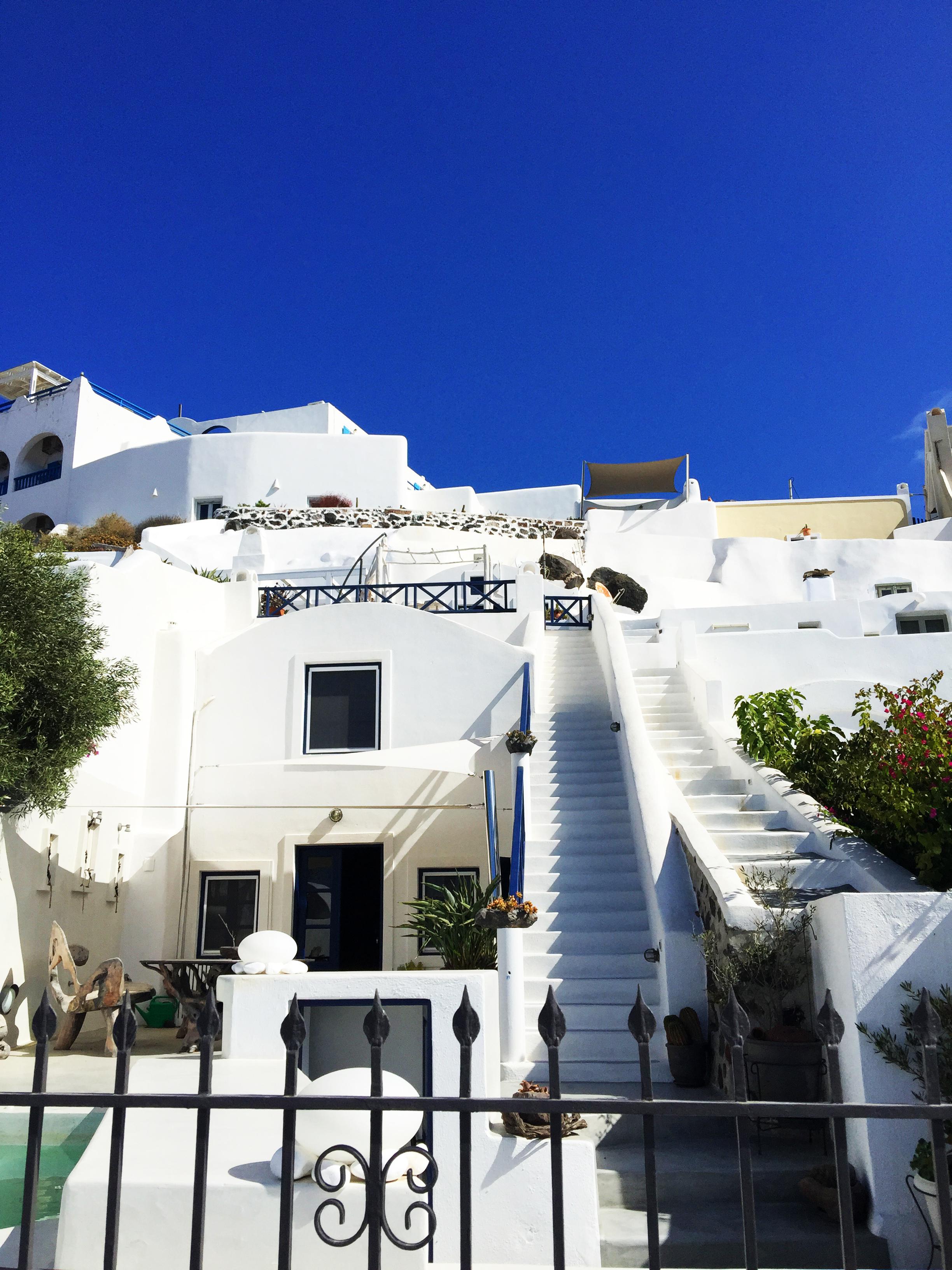 Santorin villa Grèce